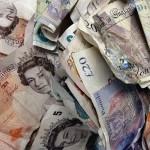money pound cash