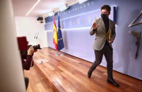 ep el portavoz de erc en el congreso gabriel rufian se despide tras una rueda de prensa de la junta