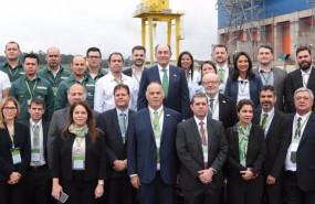 ep el presidente de iberdrola ignacio galan con empleados de neoenergia