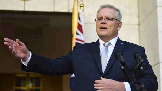 ep el primer ministro de australia scott morrison comparece ante la prensa en canberra