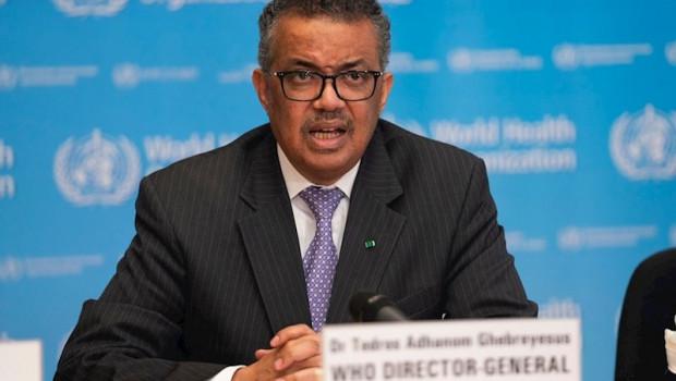 ep el director general de la organizacion mundial de la salud oms tedros adhanom ghebreyesus en la