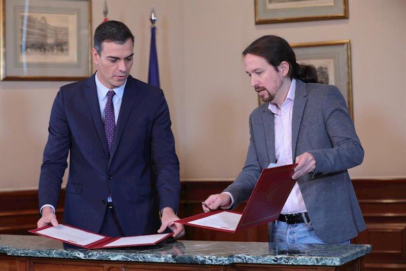 Tres ministerios para Podemos y tres vicepresidencias, una para Iglesias