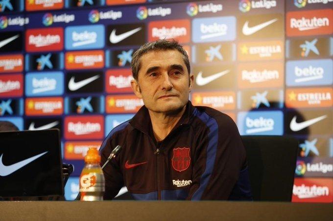 ep el entrenador del fc barcelona ernesto valverde en rueda de prensa