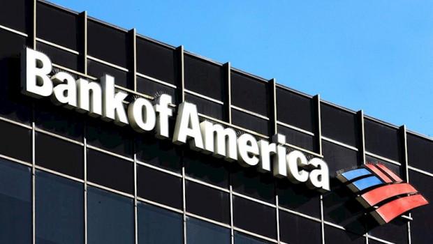 ep logo de bank of america en la fachada de sus oficinas en los angeles