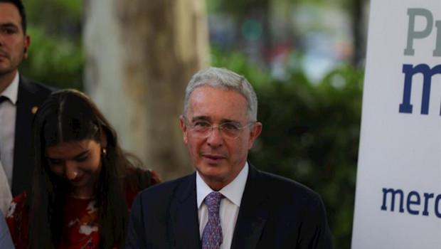 ep el ex presidente de colombia alvaro uribe durante la entrega de los premios merca2 en madrid
