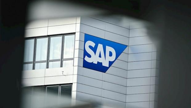 ep logo de sap en la sede de la compania en walldorf alemania