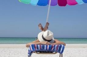 ep playa sol mar sombrilla hamaca sombrero vacaciones dormir relajacion