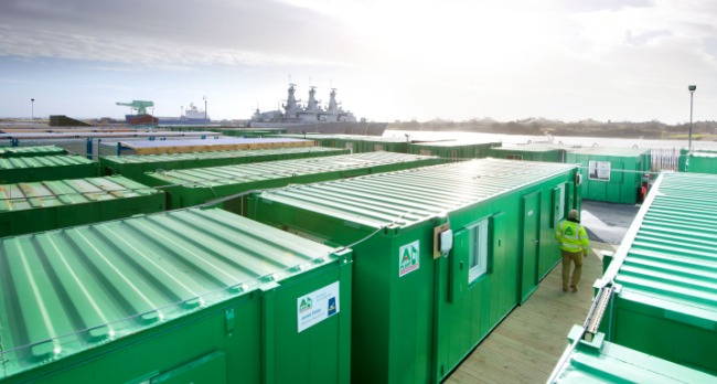 ashtead, shipping container, port, dock