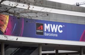 ep exterior del pabellon del evento mobile world congress mwc de 2020 el mismo dia en el que la gsma