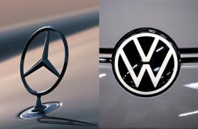 ep logos de mercedes-benz daimler y de volkswagen