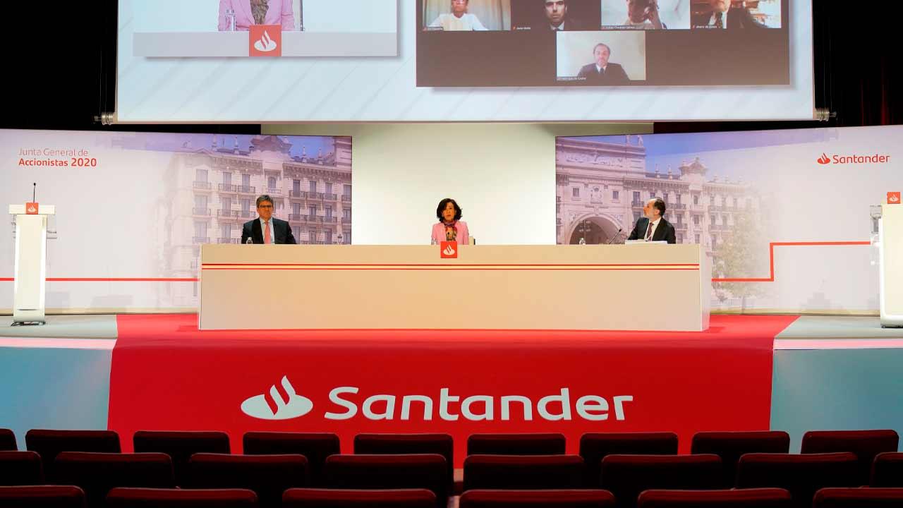 ¿Y si el Santander está construyendo un triangulo para seguir cayendo?
