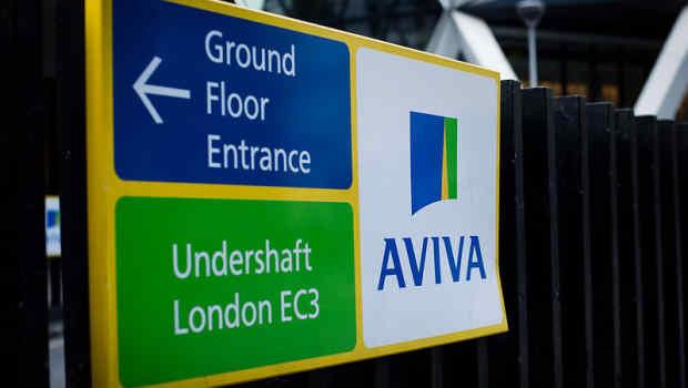 dl aviva insurance finance logo sign london ftse 100