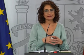 ep la ministra de hacienda y portavoz del gobierno maria jesus montero durante la rueda de prensa