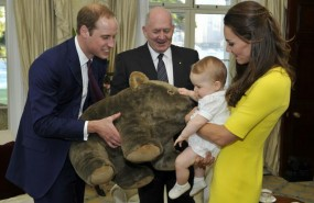 George, Guillermo, Kate Middleton, Cambridge