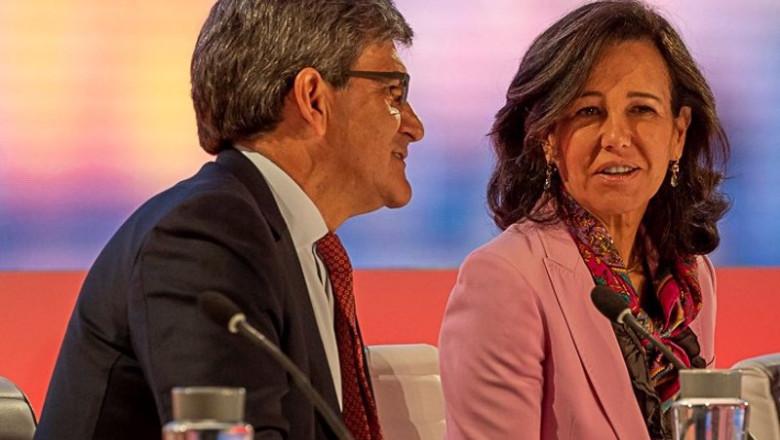 ep la presidenta de banco santander ana botin y el consejero delegado jose antonio alvarez durante