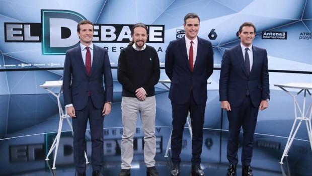 ep debate3-casado rivera e iglesias cuestionangestion economicapsoesanchez promete mejorasautonomos