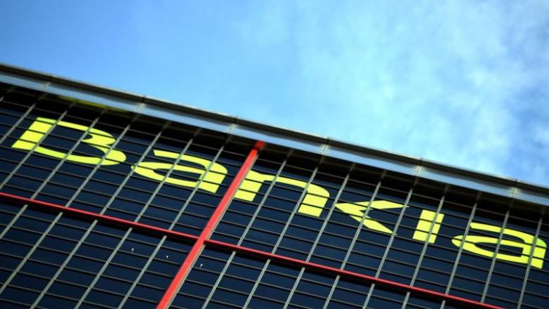 ep logo de la entidad bancaria bankia en su sede en una de las torres kio de madrid